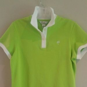 Lilly Pulitzer Polo Top Lime Green, Sz M